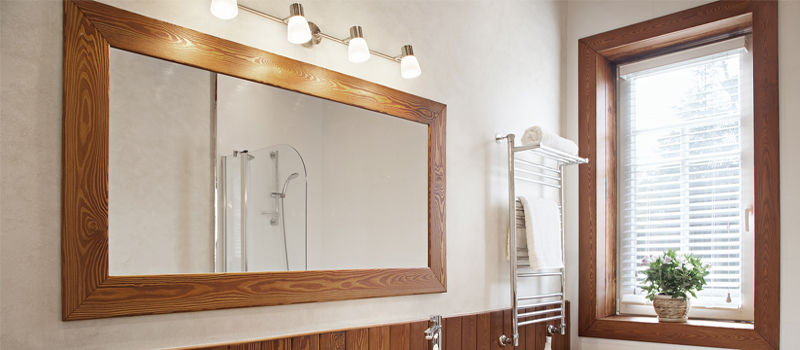 Custom Cut Bathroom Mirror