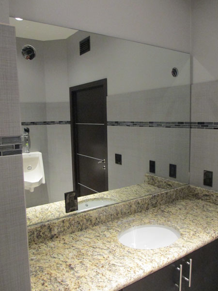 Mirrored Wall in Bathroom