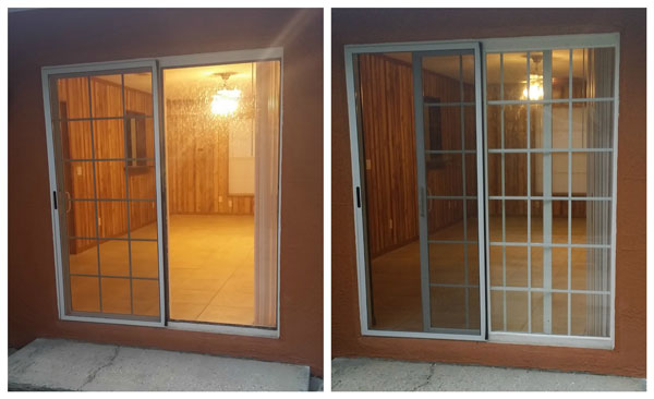 Patio Door Repair Before and After