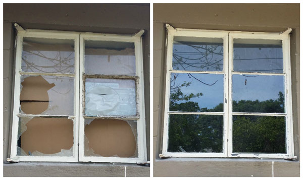 Refurbished Window: Before and After
