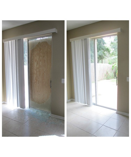 Patio Door Glass Before and After