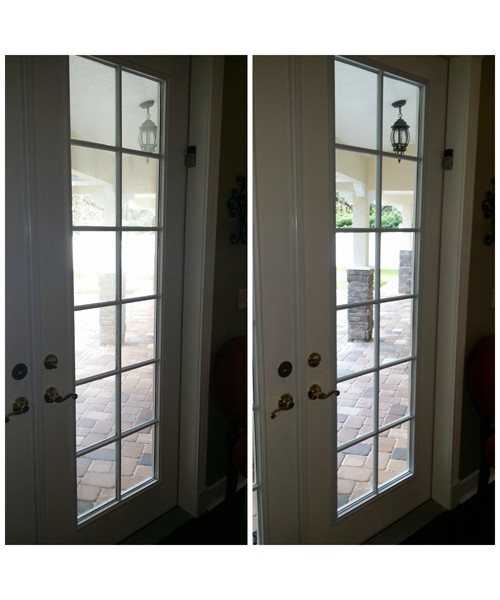 Fogged Door Glass Repair: Before and After