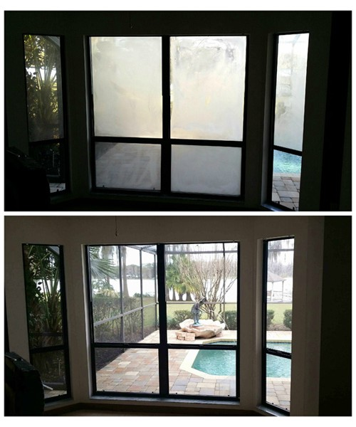 Foggy Window Repair Before and After